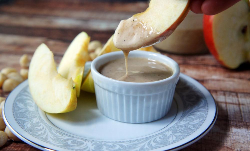 Extra Creamy Macadamia Butter spiced to taste like eggnog!