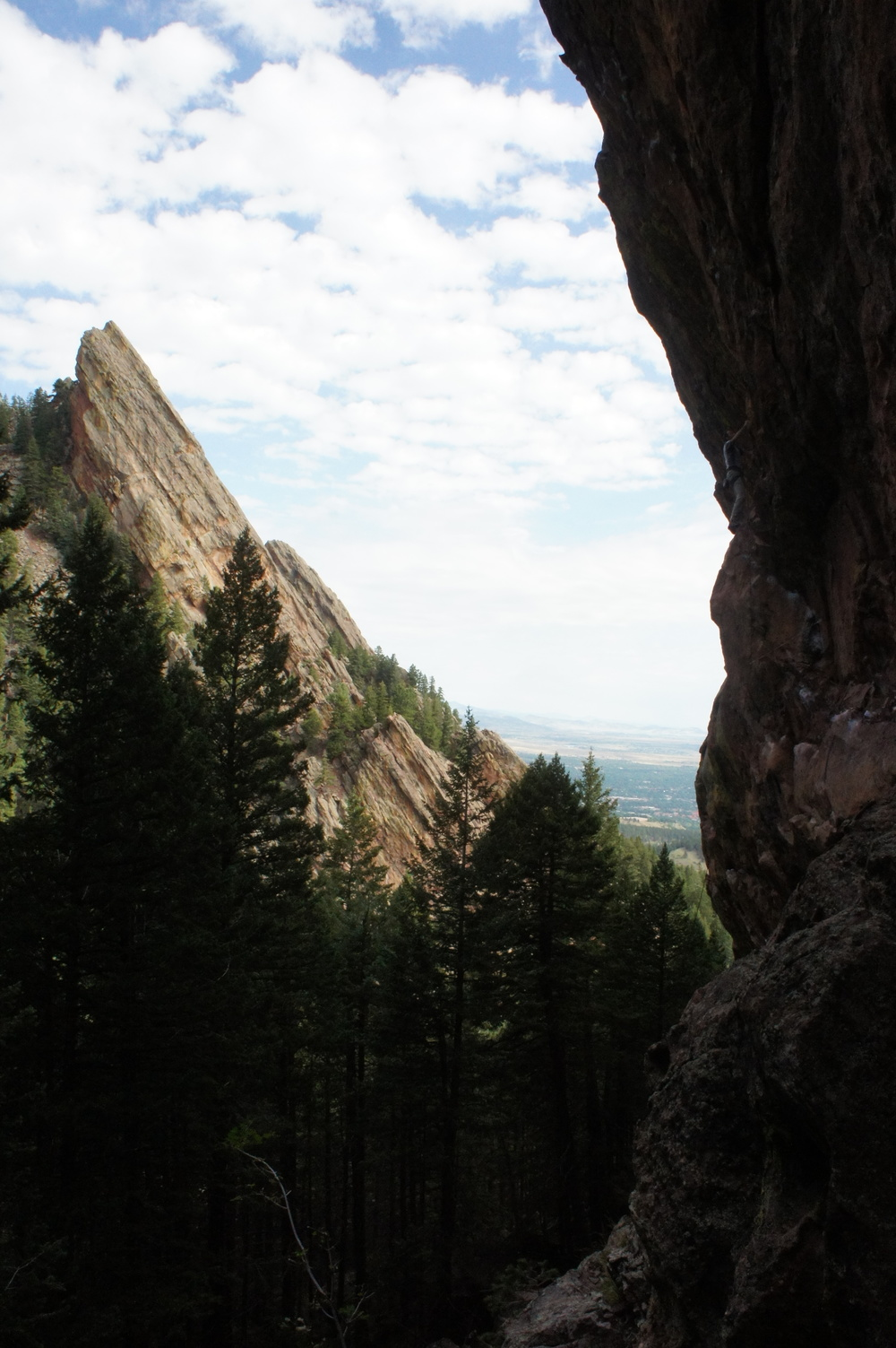 The view from Central Flatirons, our go-to spot for day trip climbing.