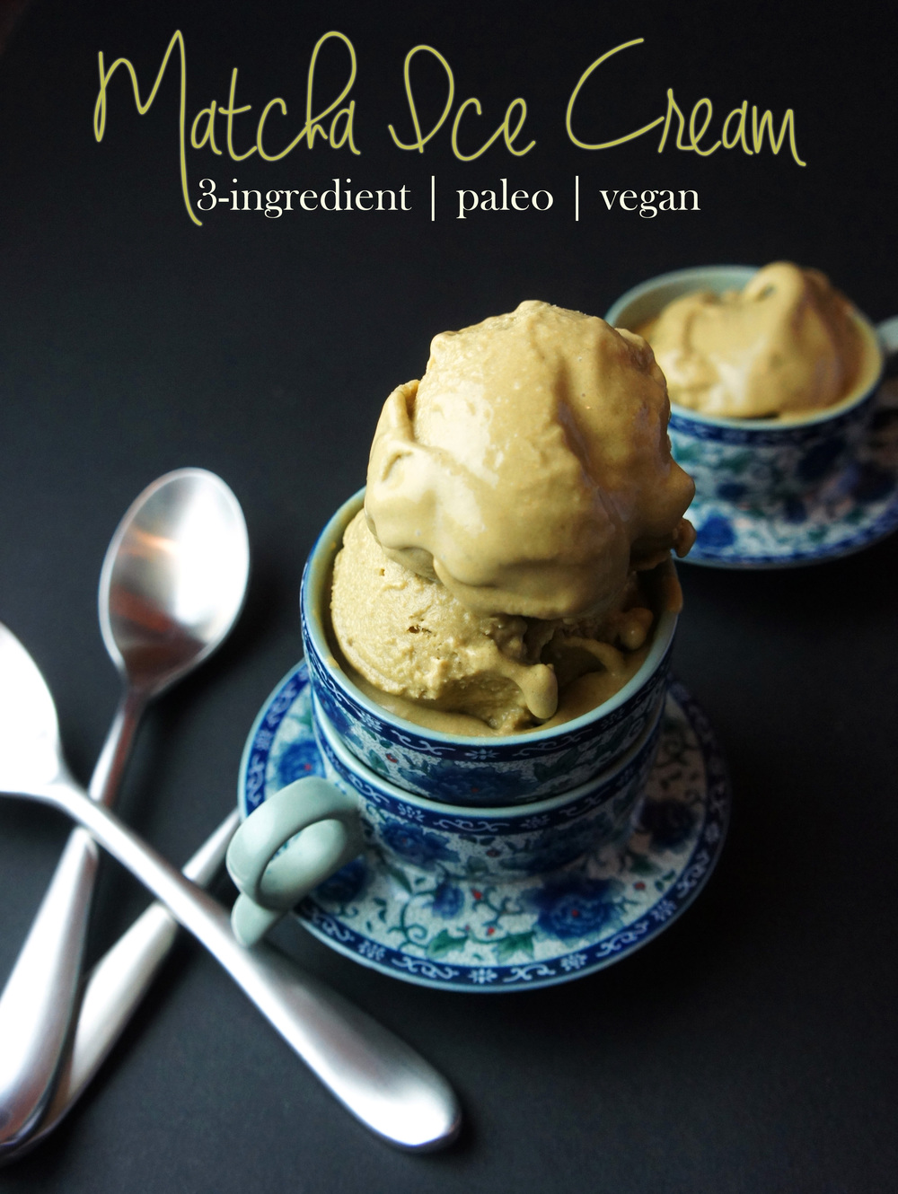 3-Ingredient Matcha Ice Cream thats aip-paleo, vegan, and raw! Afternoon pick-me-up anyone?