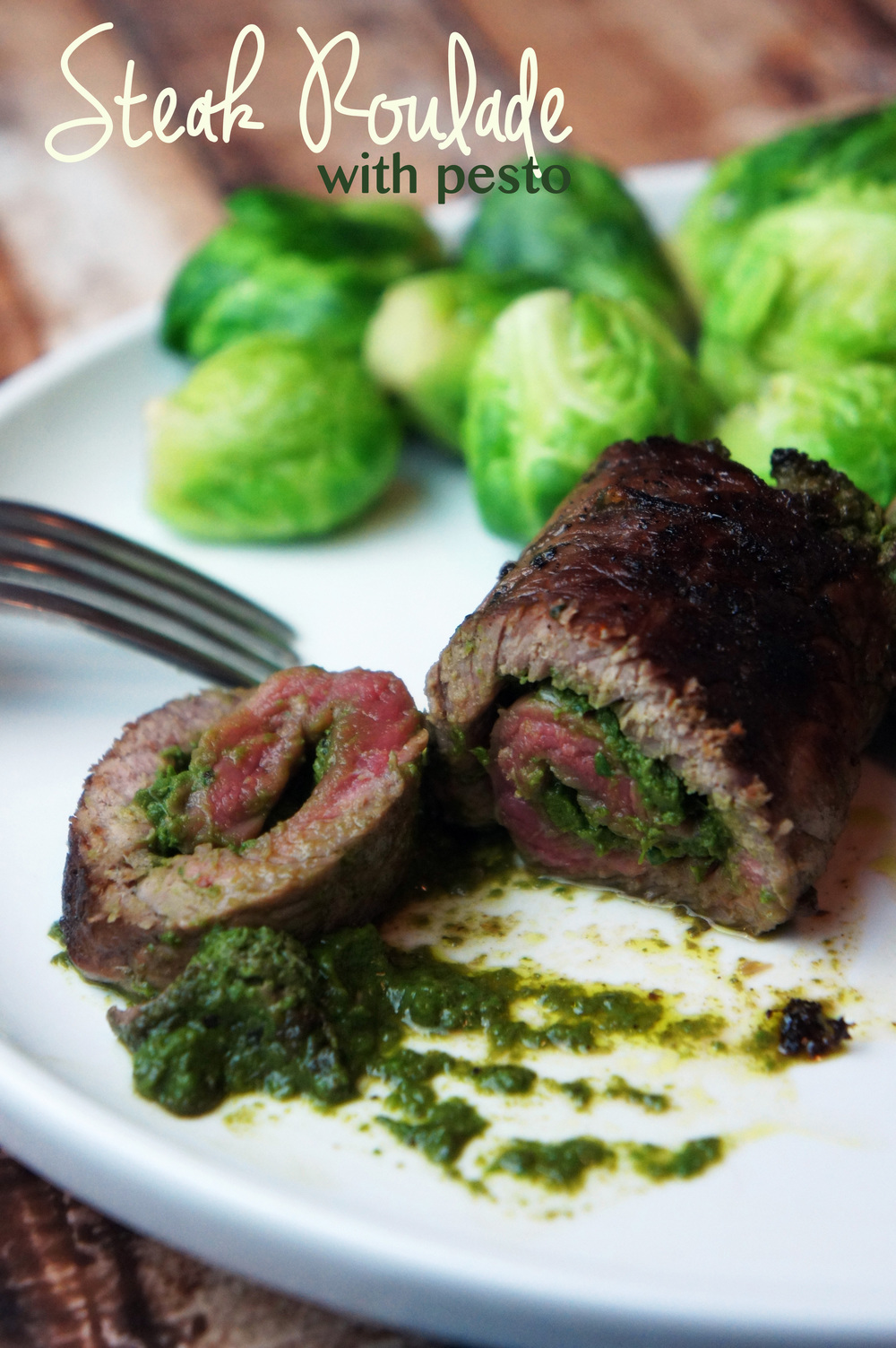 Individual Steak Roulades with pesto
