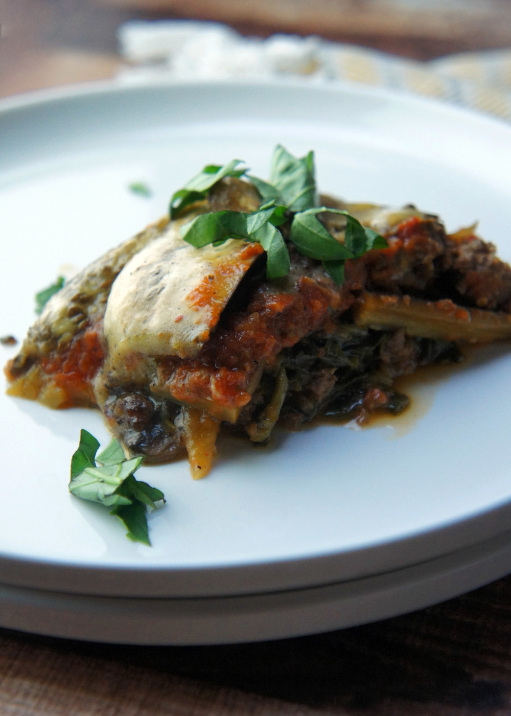 Paleo lasagna with summer vegetables