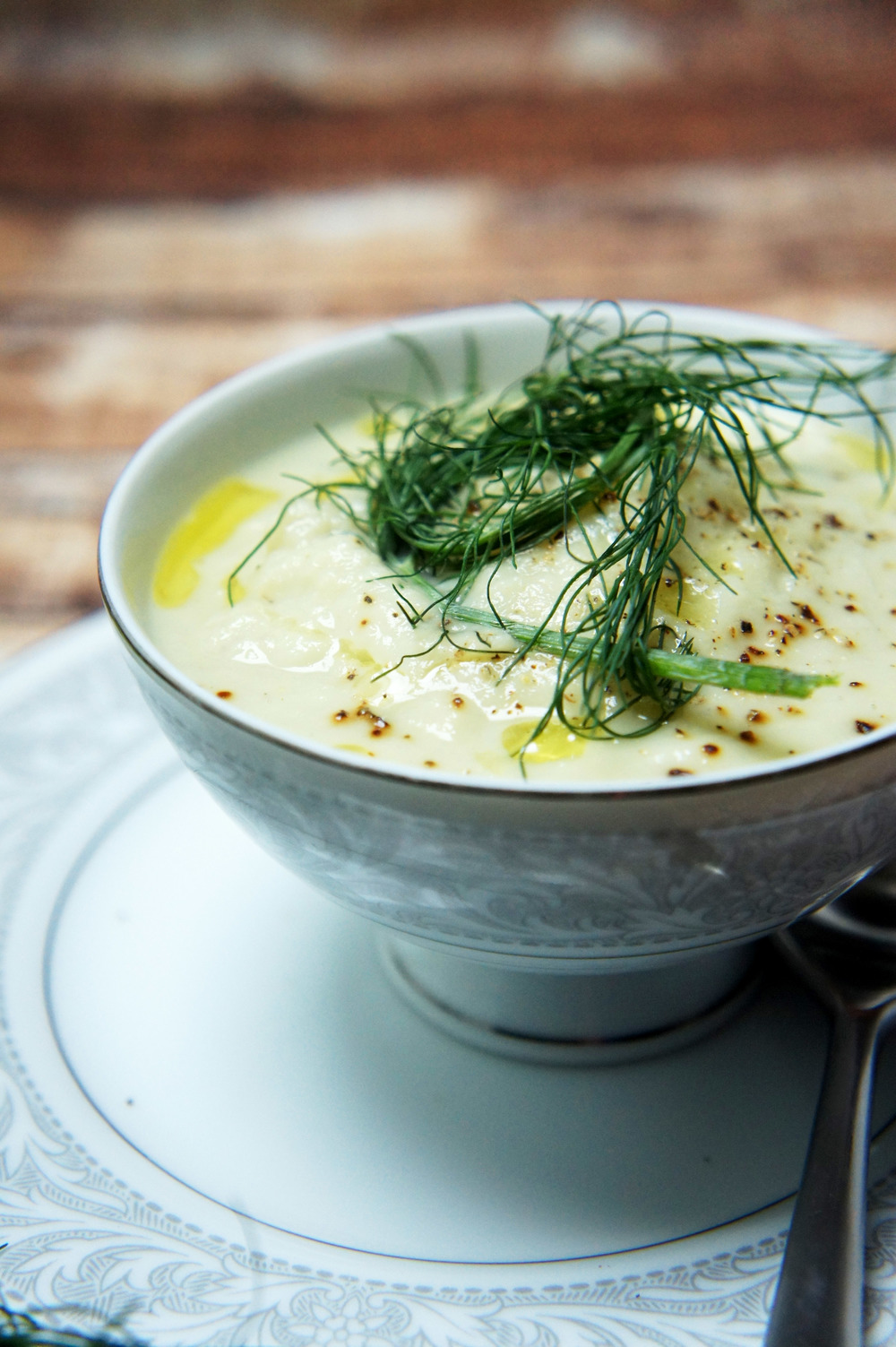 Creamy Fennel and Cauliflower Soup (paleo, dairy-free, vegan)
