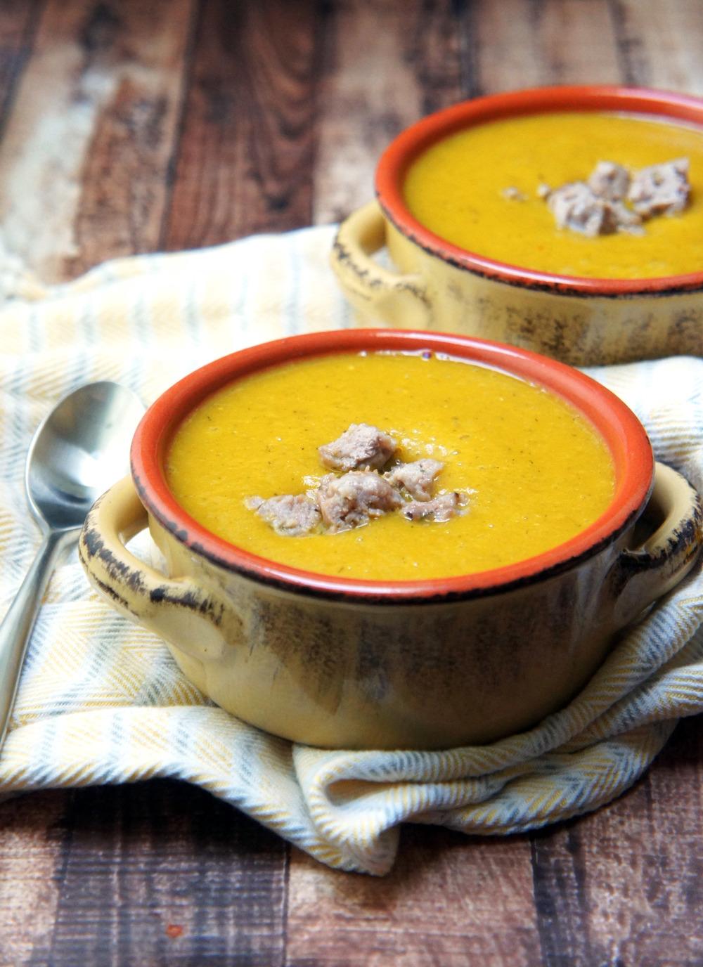 """Squashage"" - A Savory Butternut Squash Soup"
