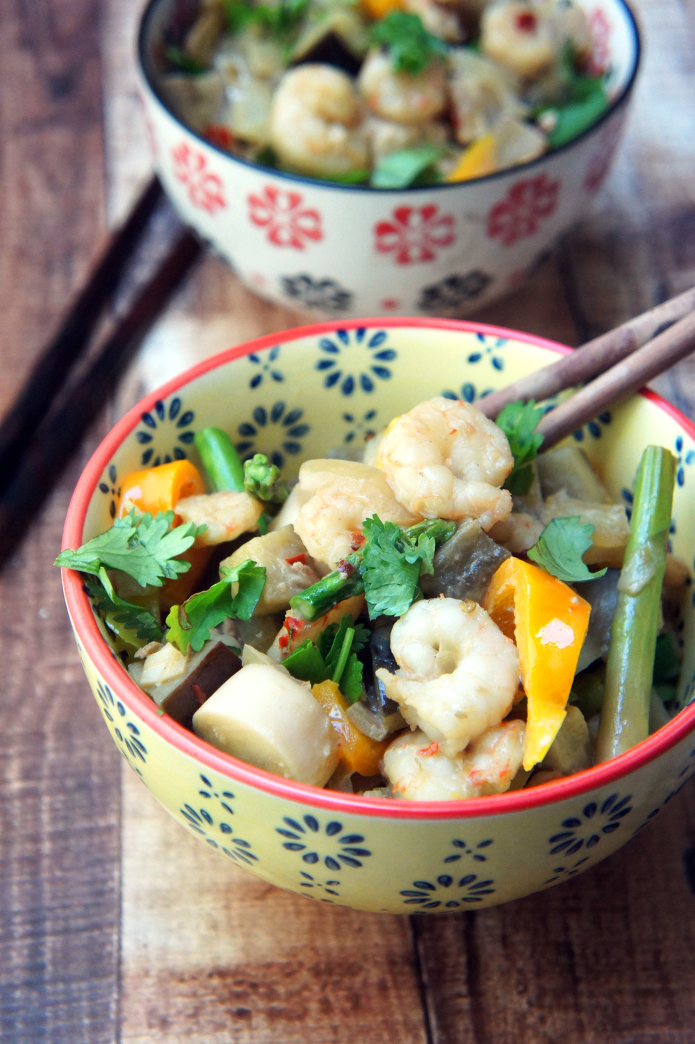 One Pan Paleo Coconut Shrimp Bowls