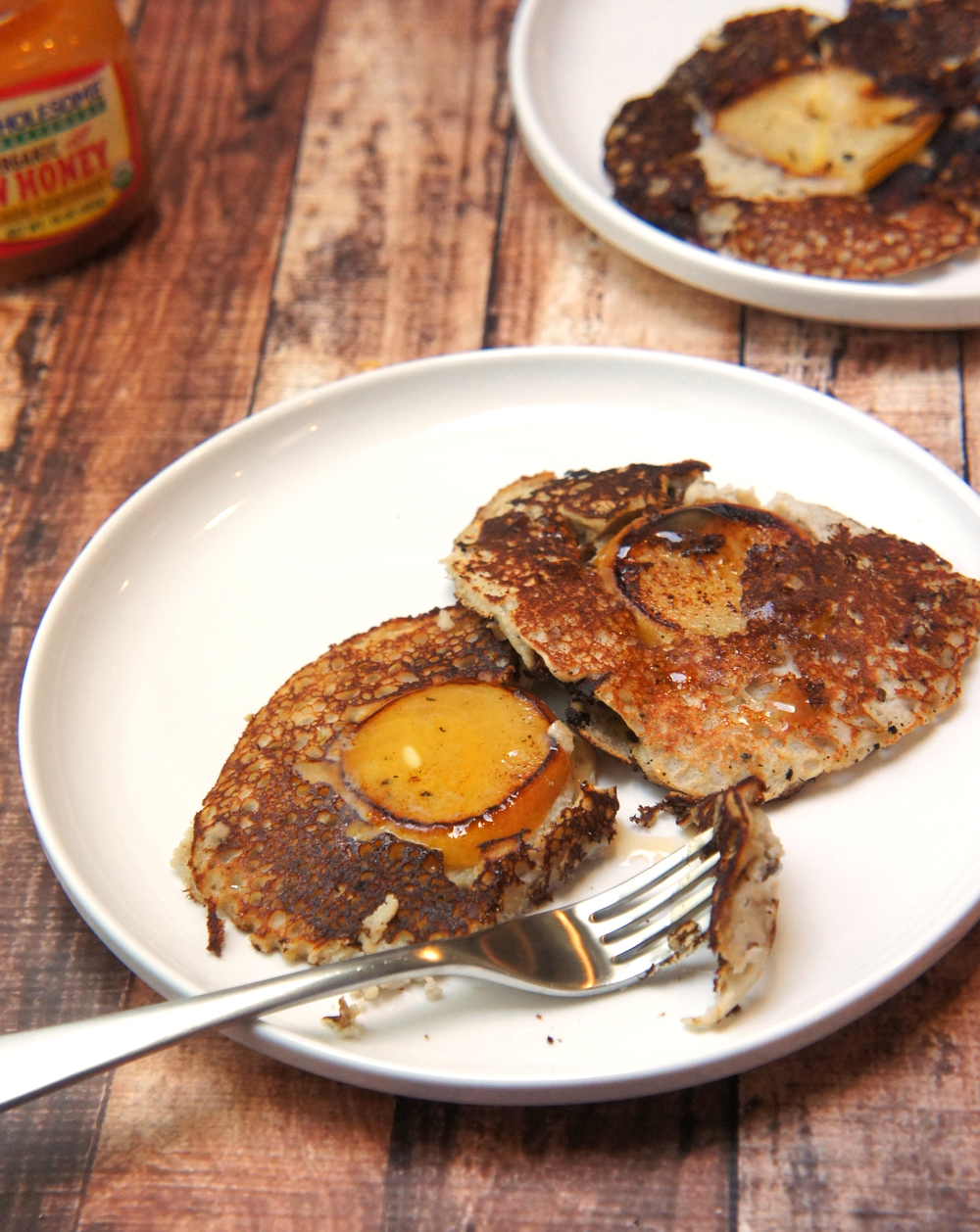 Paleo Pear and Bacon Pancakes