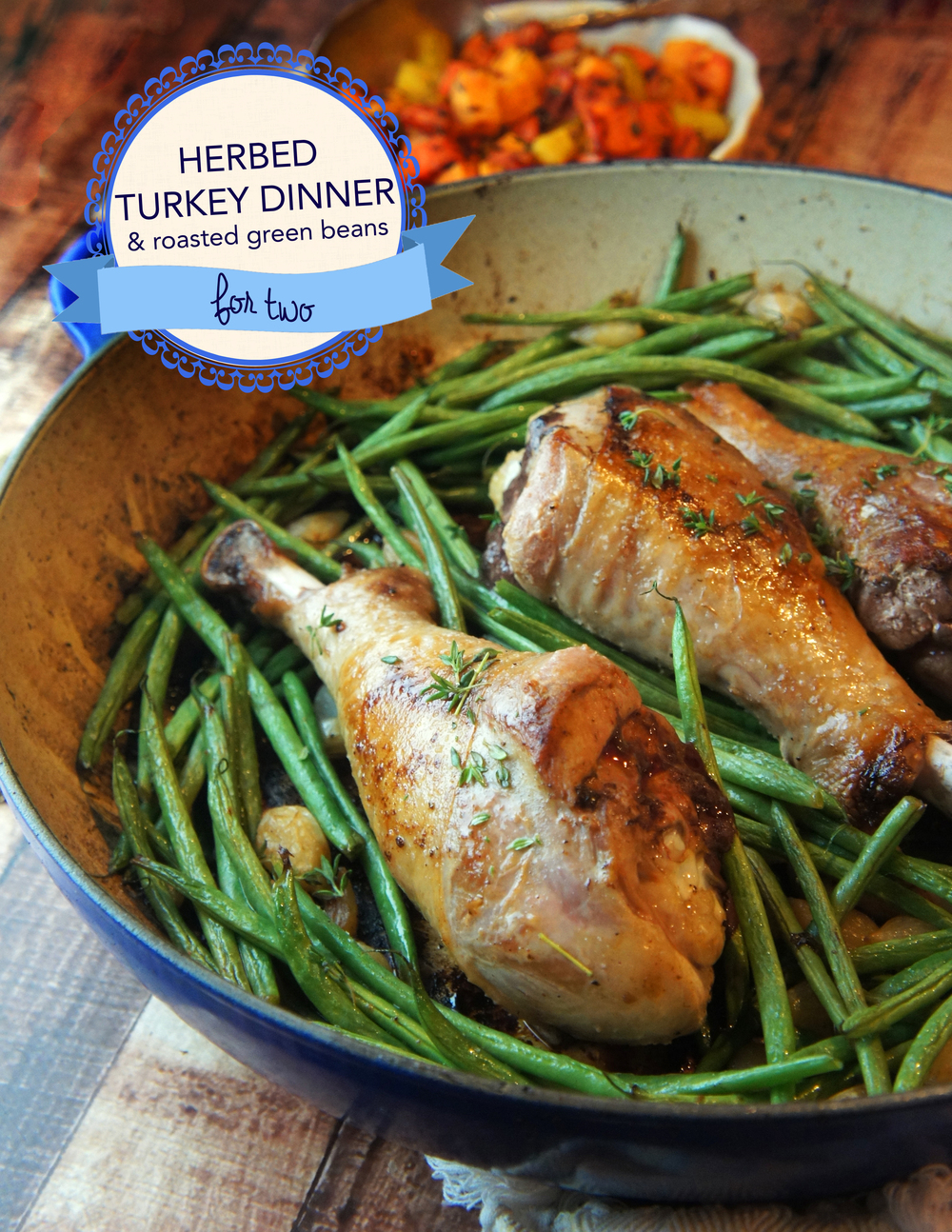 Herbed Turkey Dinner with Roasted Green Beans for Two (Paleo)