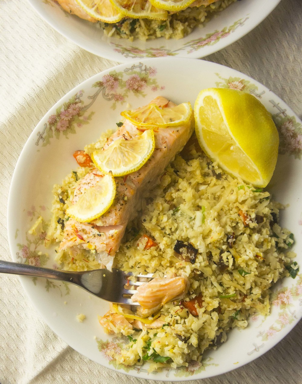 Paleo Baked Salmon over Grain-Free Apricot Pilaf (AIP-Friendly)