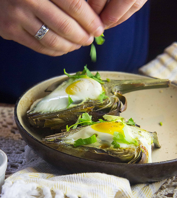 Eggs Baked in Artichokes