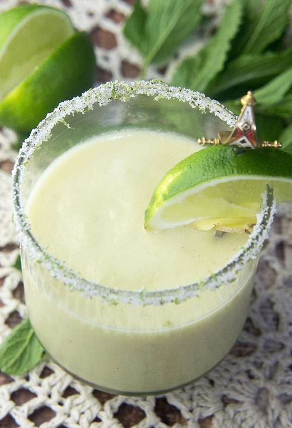 Paleo Pineapple Ginger Margarita with No Added Sugar