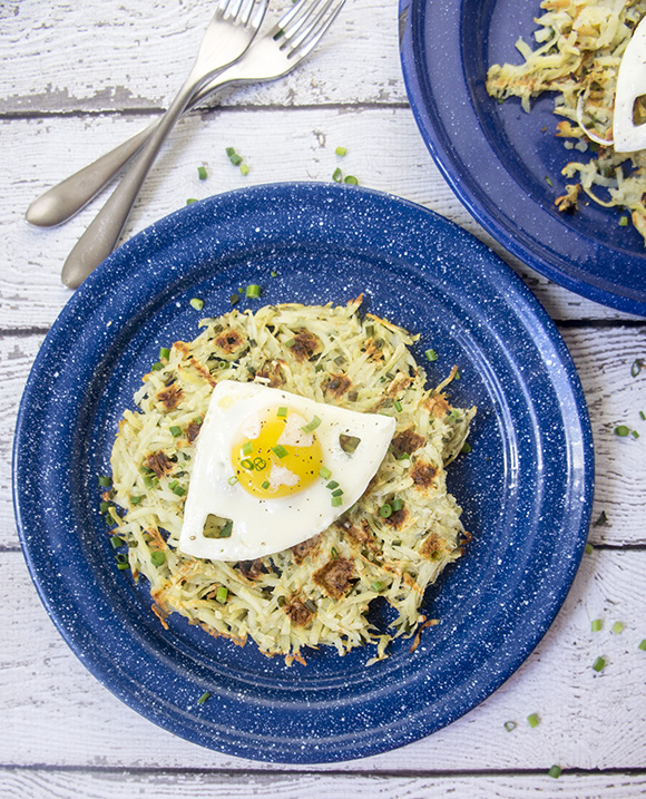 Paleo Sweet Potato & Chive Hash Brown Waffles