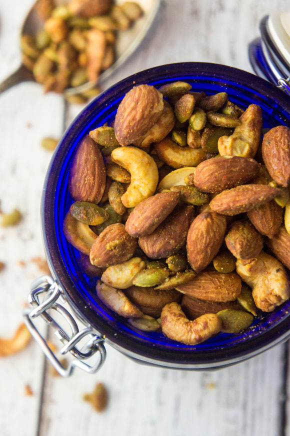 Paleo Honey Mustard Roasted Nuts