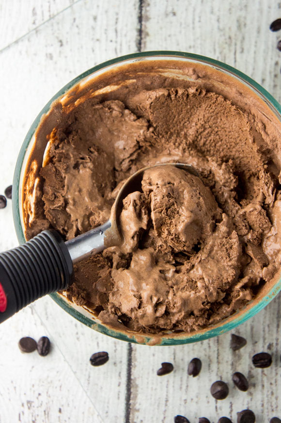 Paleo Dark Chocolate Mocha Ice Cream