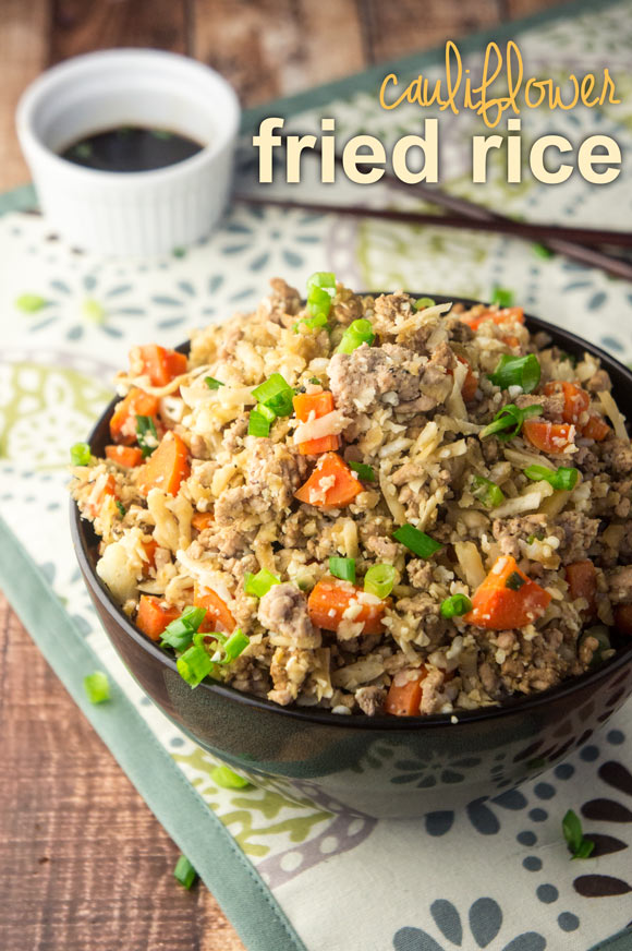 "Cauliflower Pork Fried ""Rice"" + One-Pot Paleo Cookbook Review"
