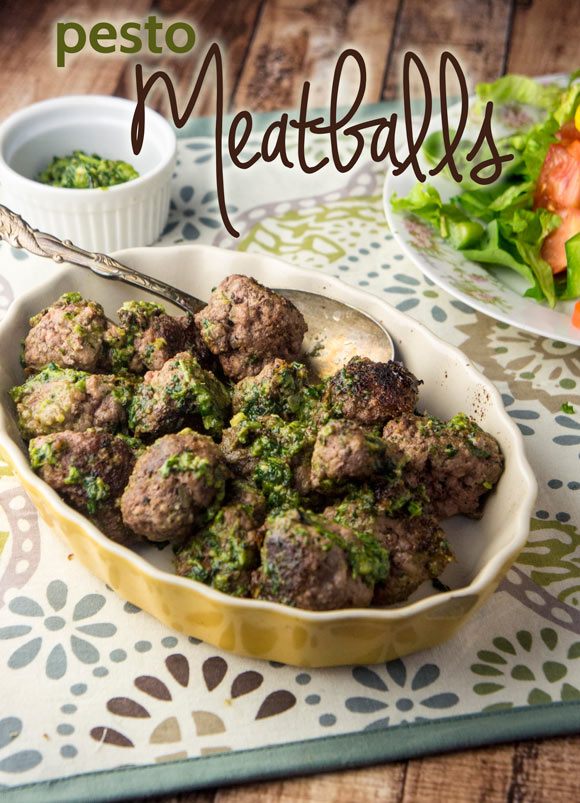 Paleo Pesto Meatballs