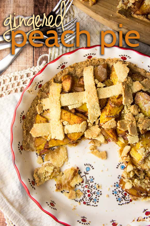 Paleo Gingered Peach Pie