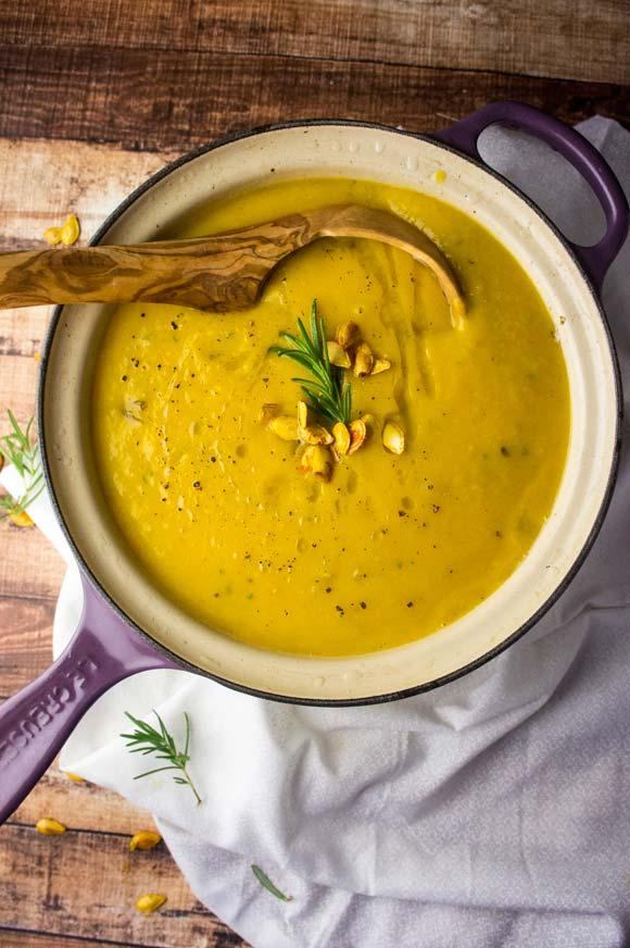 Rosemary & Tahini Butternut Squash Soup