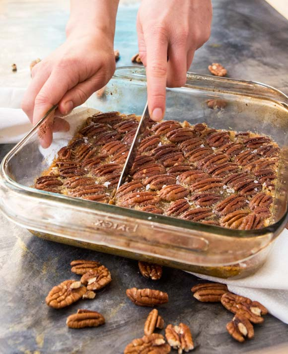 Grain-free maple pecan pie bars