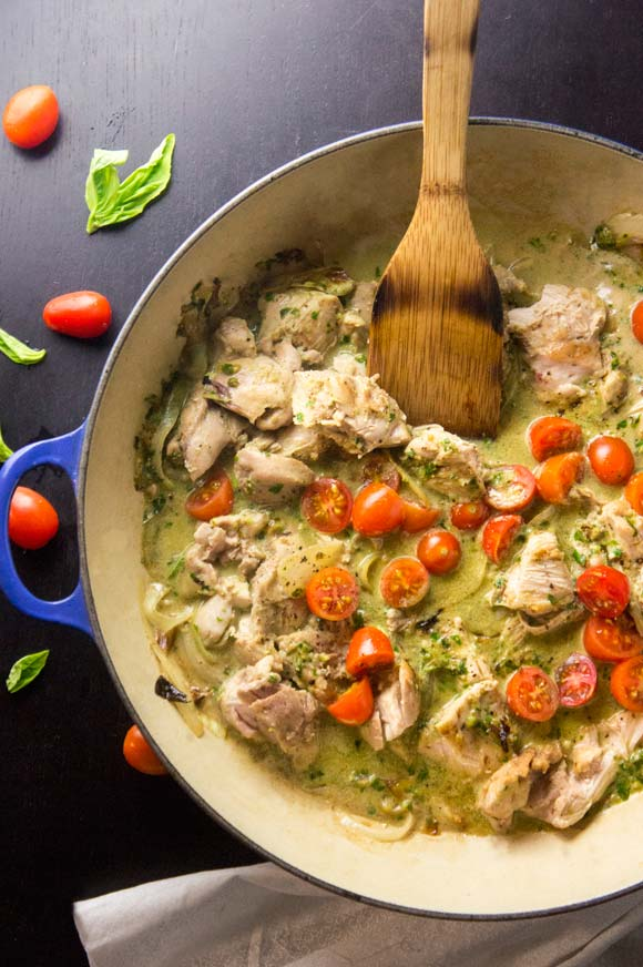 Creamy Basil & Tomato Chicken