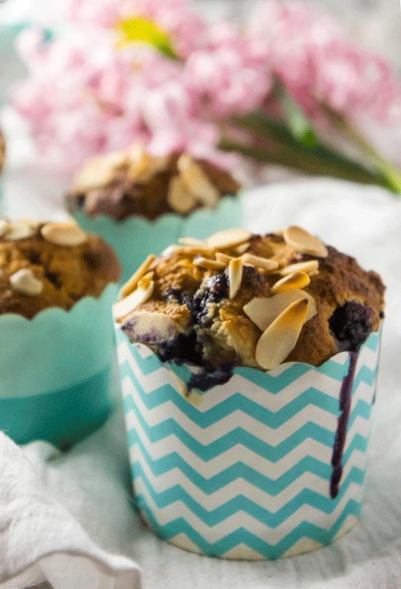 Blueberry Almond Muffins - Paleo