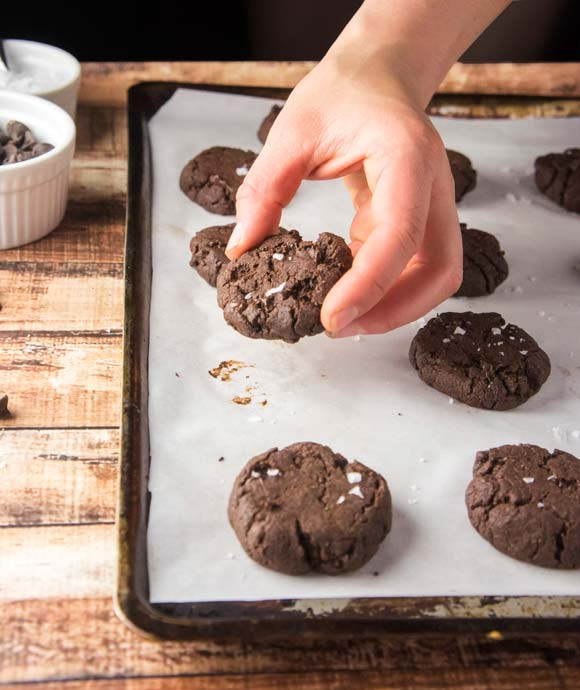 Paleo Grain-free double chocolate cookies
