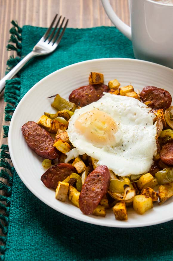 Cajun Hash with Andouille Sausage