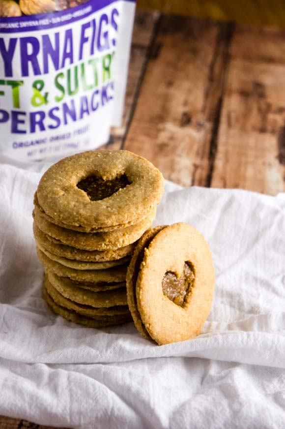 Grain-Free Fig & Almond Linzer Cookies