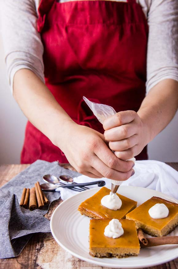 Pumpkin Pie Bars with Grain-Free Gingerbread Crust