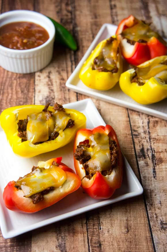 Enchilada Stuffed Pepper Bites
