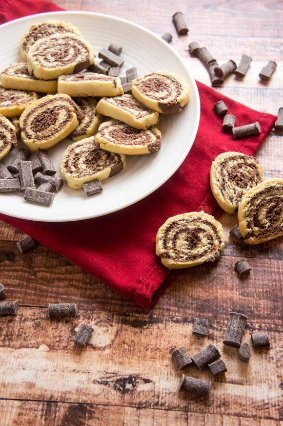 Chocolate Vanilla Pinwheel Cookies (Gluten-free and Paleo)