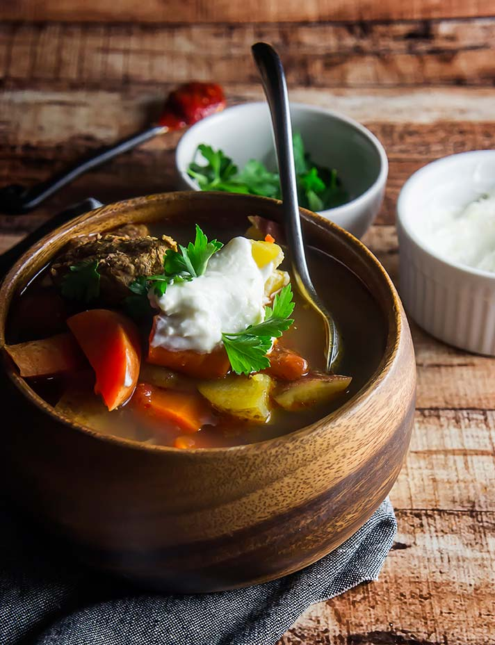 Slow Cooker Beef & Potato Harissa Stew