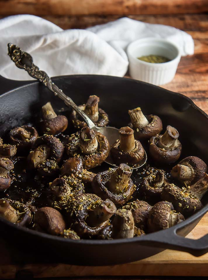 Easy Herb De Provence Roasted Mushrooms