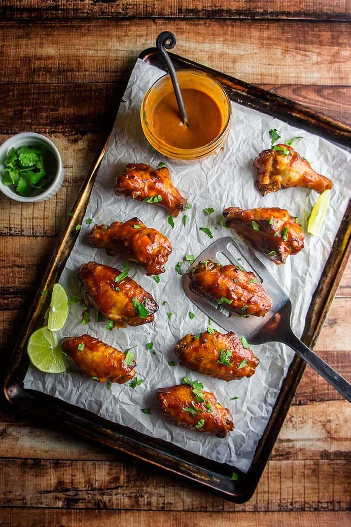 Chipotle BBQ Wings with Avocado Cream