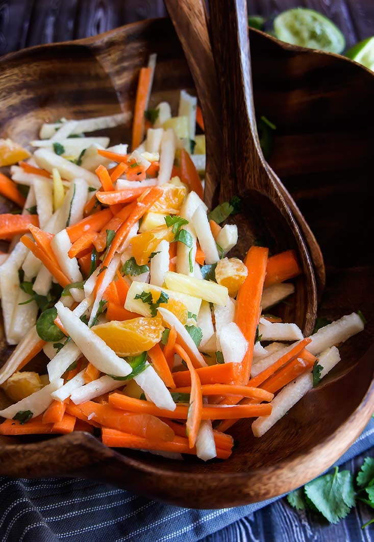 Jicama-Pineapple Slaw with Honey Lime Vinaigrette
