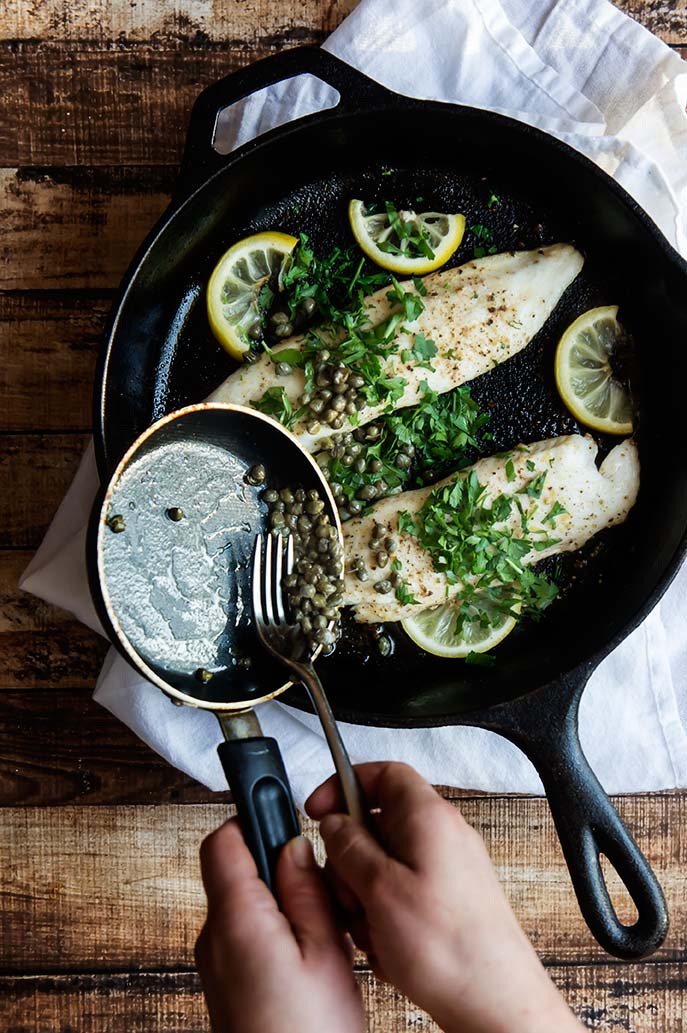 Tilapia with Lemon and Fried Capers