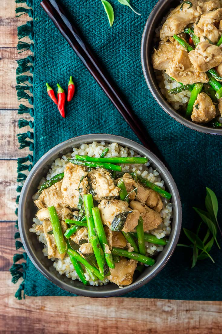 Thai Basil Chicken & Asparagus