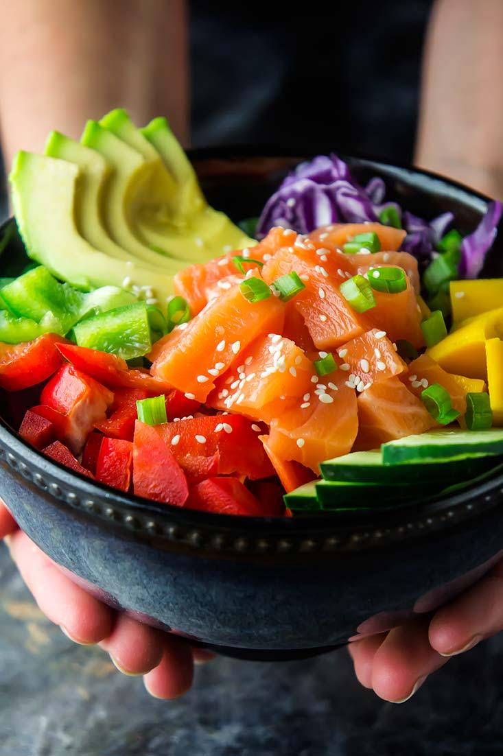 Salmon & Mango Poke Bowl