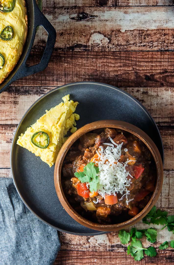 Chipotle Bison & Sweet Potato Chili