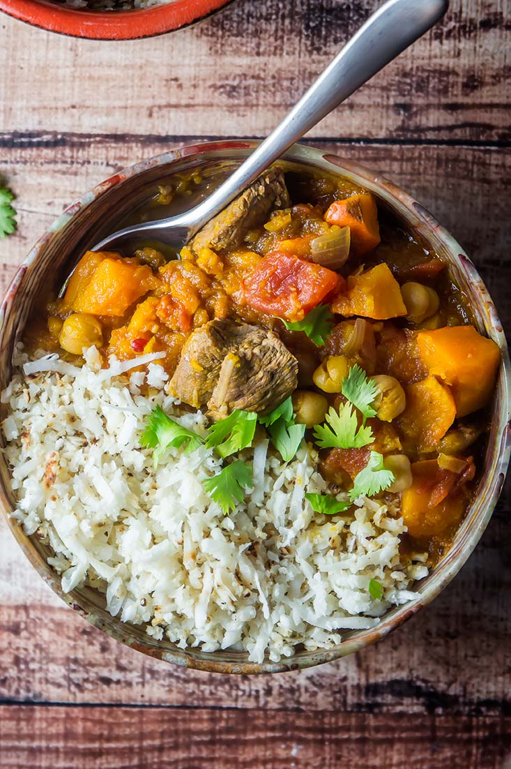 Lamb & Winter Squash Tagine with Apricots