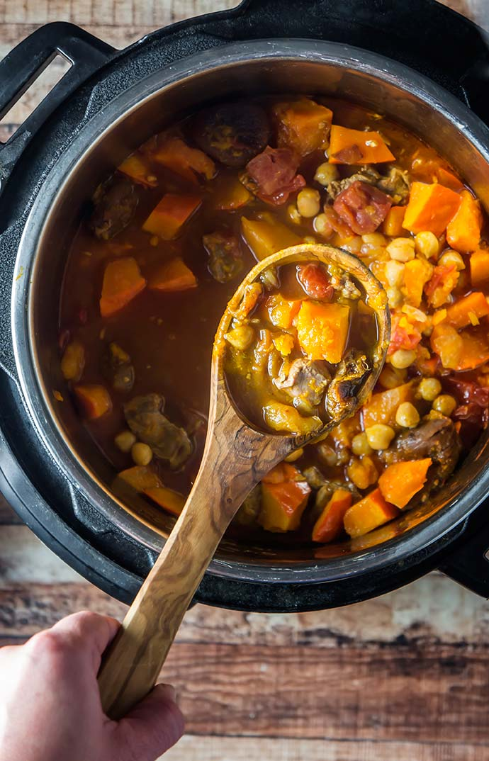 Instant Pot Lamb & Winter Squash Tagine with Apricots