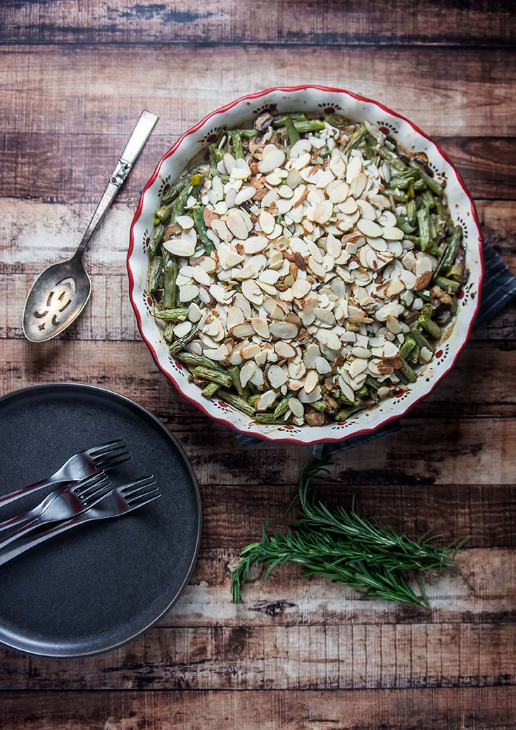 Toasted Almond Green Bean Casserole (Gluten-Free)