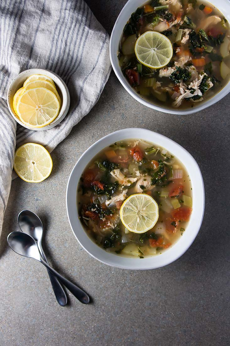 Lemony Garden Vegetable & Chicken Soup