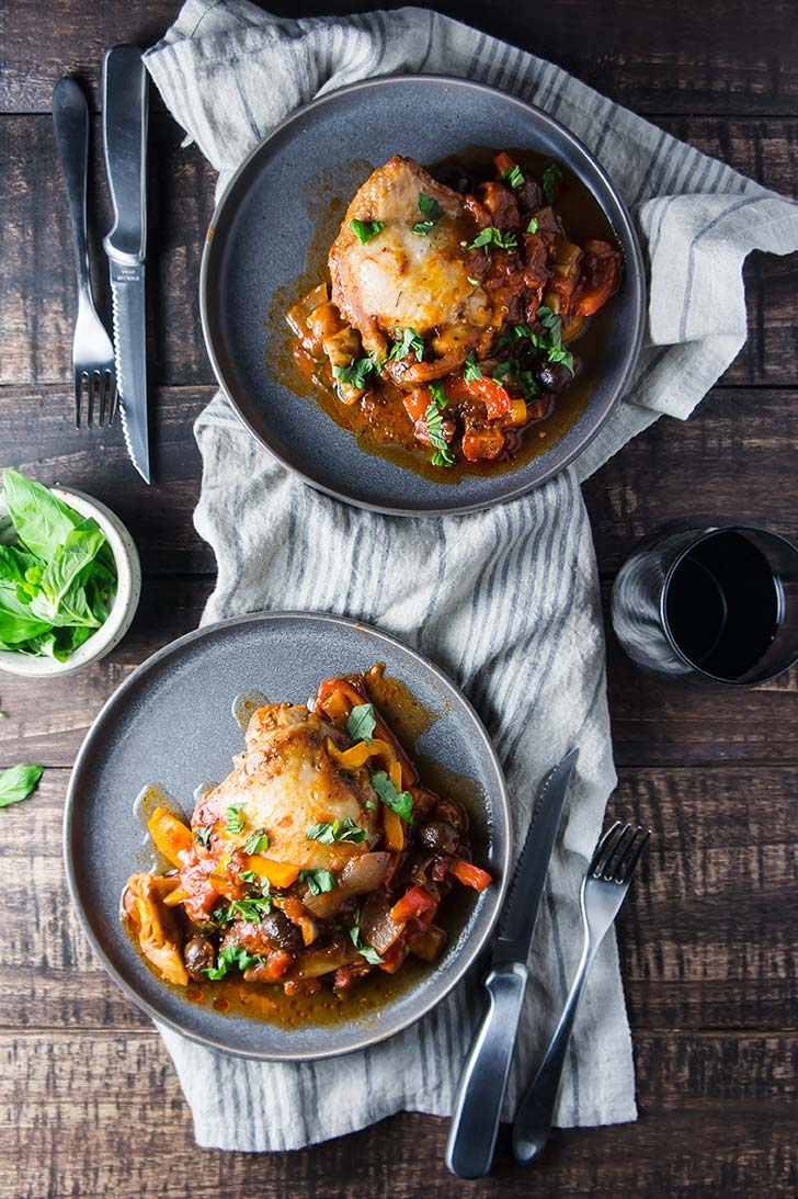 One Pan Paleo Chicken Cacciatore
