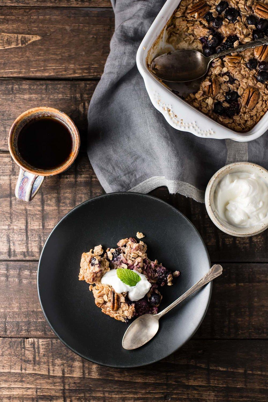 Cinnamon, Berry + Pecan Baked Oatmeal
