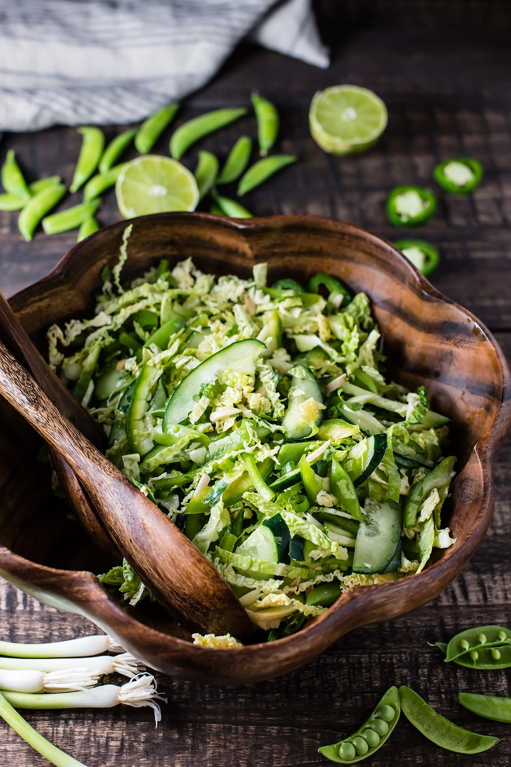 Green Machine Slaw with Ginger Lime Vinaigrette