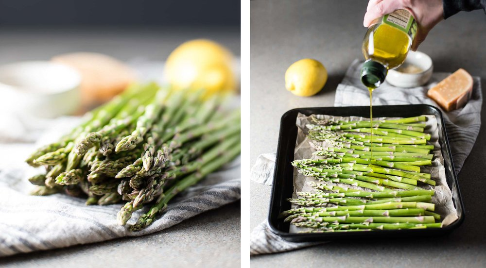 Roasted Asparagus with Lemon Zest & Cheese