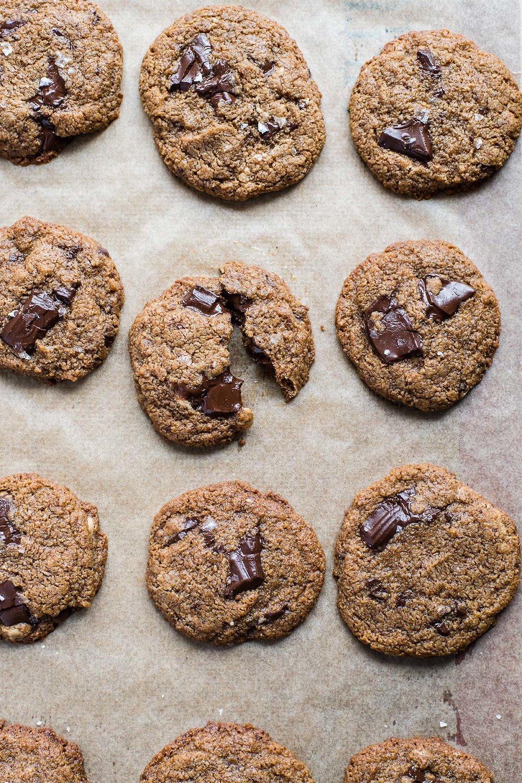 Chewy Tahini Chocolate Chip Cookies (Gluten-Free & Grain-Free)