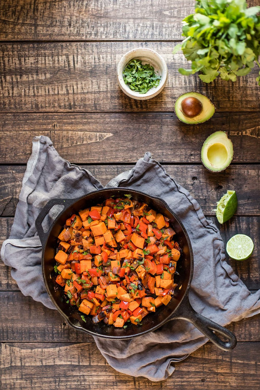 Cilantro Lime Sweet Potatoes