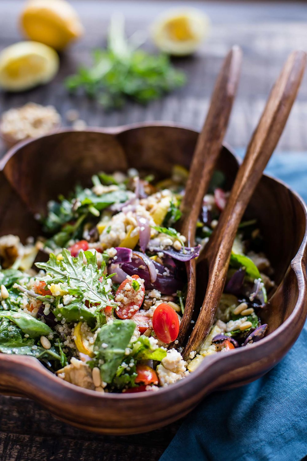 Roasted Summer Vegetable Quinoa Salad