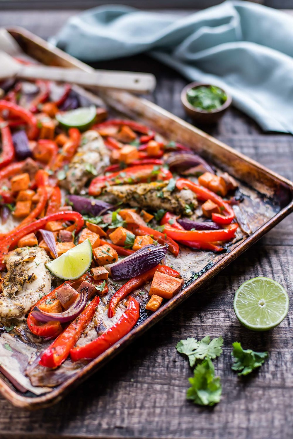Citrus Cumin Mojo Chicken with Peppers