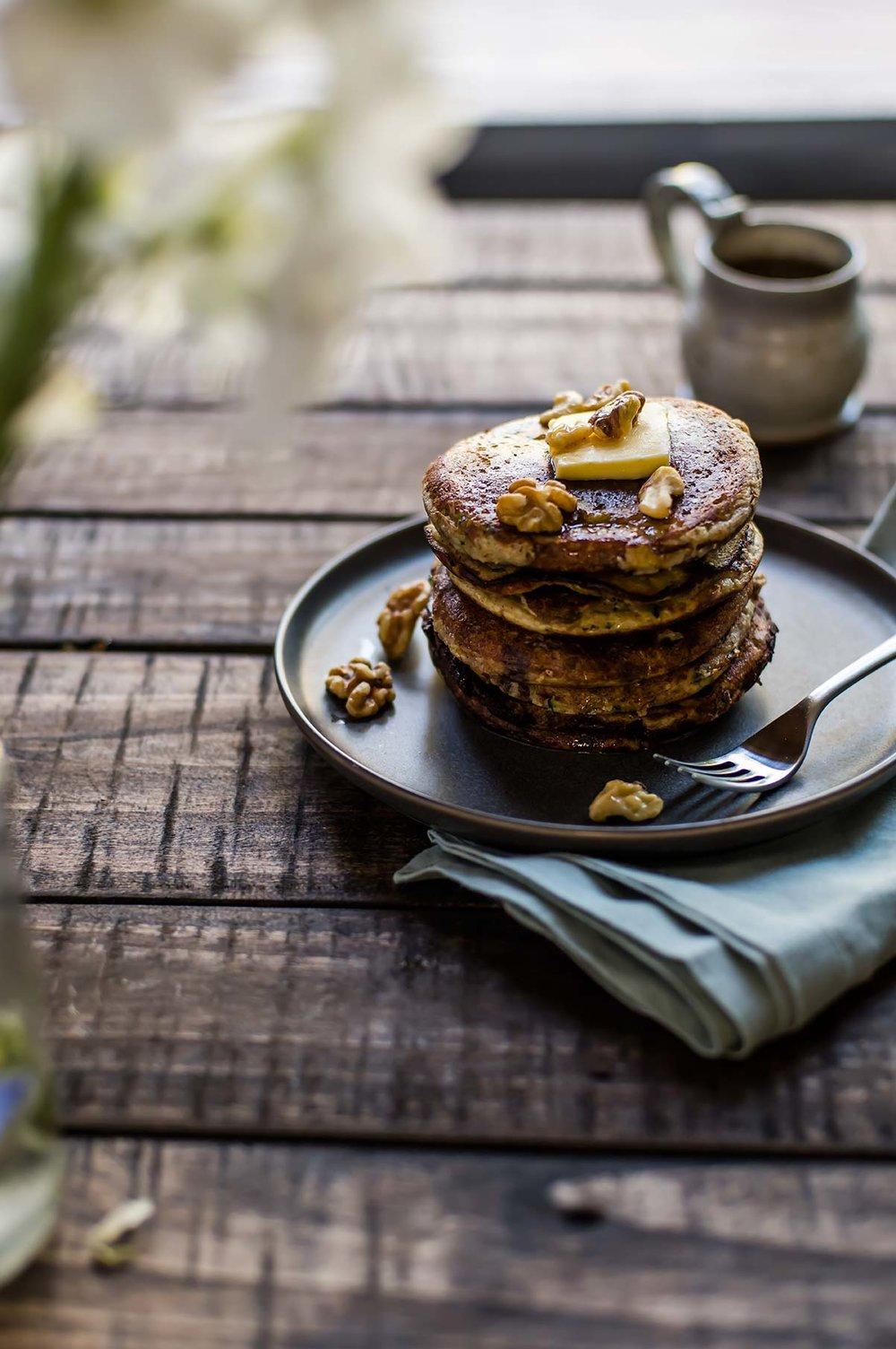 Almond Flour Zucchini Bread Pancakes
